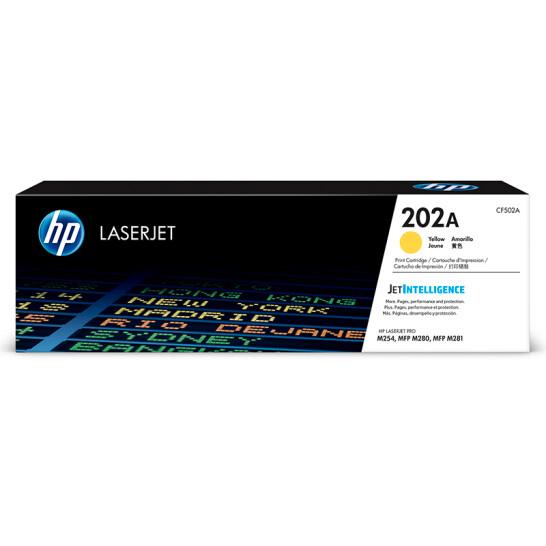 惠普(HP)CF502A 202A黄色硒鼓(适用于M254/M280/M281)