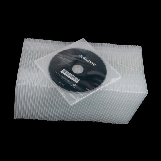 晨好方形光盘盒 透明塑料光盘盒50个装